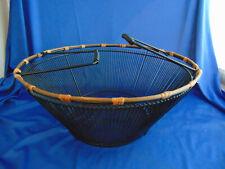 Round black metal wire basket with handles 6