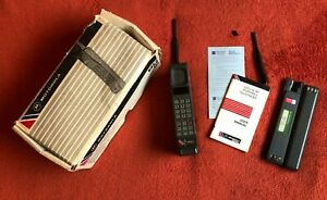 MOTOROLA INDEPENDENT Vintage Mobile Phone Extra Batteries, Antennae & Manual