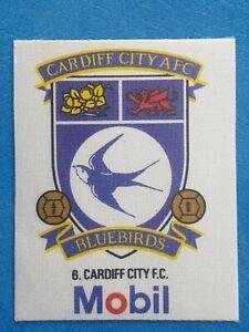 Mobil Football Club Badges Silk 1983 Cardiff City