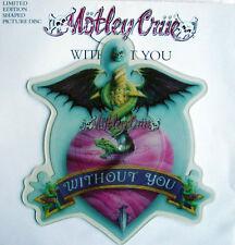 EX/EX Motley Flood sans vous en forme de vinyle pic picture disc + support carte