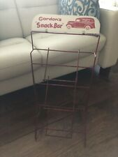 """Gordon's counter Snack Bar Display Rack, Approximately 12 1/2"""" By 24 1/2 Tall,"""
