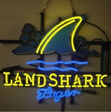 "New Landshark Lager Fin Neon Sign Beer Bar Pub Gift Light 20""x16"""