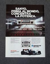 F909 - Advertising Pubblicità - 1983 - SANYO RED SOUND HI-FI CAR