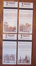 COMPLETE CANADIAN SET OF 4: DOANE HALL PHARMACY (AURORA, ONTARIO, SCENES) -O25