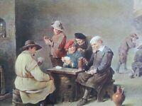 ANTIQUE PRINT DATED 1908 VILLAGE ALE-HOUSE DAVID TENIERS FAMOUS PAINTINGS ART