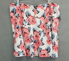 Inc Skirt Size 24 W Pink Floral Flowers Womens Mini