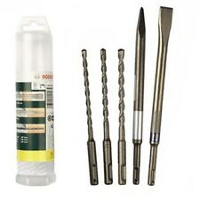 BOSCH 5 Piece SDS Chisel and Drill Bit 2607019456 3165140415743#