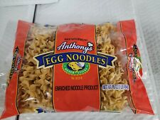 Anthony's Wide Egg Noodles with SEMOLINA 16 oz, TOTAL 6 PACK!! NEW *MADE IN USA*