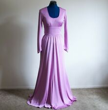 1970s Vintage Purple Lavender Maxi Dress