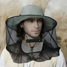 Fishing Hat Anti-Mosquito Bug Fly Bee Insect Net Head Face Protector Sun Cap