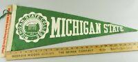 VTG Felt Pennant Historical Rare 1950s Michigan State College