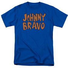 Johnny Bravo JB Logo T Shirt Mens Licensed Cartoon Merchandise Royal