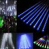 30/50cm 144/240 LED Meteor Shower Rain Snowfall 8 Tubes String Light Xmas Decor