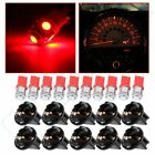 10Pcs Red T10 194 5-SMD LED Bulbs Speedmeter Instrument Dash Lights For Chevy