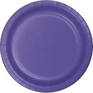 """Purple 9"""" Paper Plates 24 Per Pack Tableware Party Decorations & Party Supplies"""