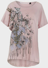 tee and cake pink flower print top - dusty pink, overised baggy t-shirt, size 8,