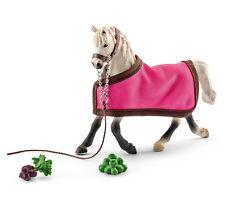 Schleich 41447 Grey Arabian Mare with Halter & Blanket Model Toy Horse - NIB