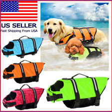 Pet Dog Life Jacket Swimming Durable Safety Vest Reflective Stripe + PULL Handle
