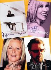 ABBA - 4 TOP Autogramm Bilder - Print Copies + AK Bild ABBA - Groß Format 21x15