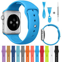 Silicone For Apple Watch Series 4 3 2 1 40mm/44mm Replacement Sport Band Strap