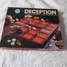 1975 MILTON BRADLEY DECEPTION THE MEMORY POKER GAME JEU complete