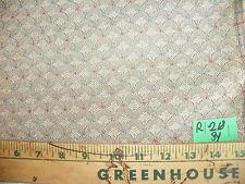 Tan Shell Print Damask Upholstery Fabric  1 Yard  R218