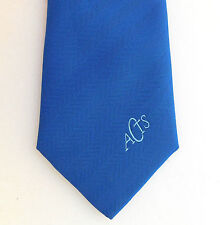 ACTS corporate tie Company organisation logo vintage 1970s 1980s blue