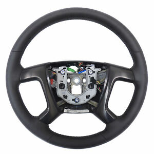 2009 Hummer H2 Black Leather Heated Steering Wheel w/Bezels & Harness 25995628