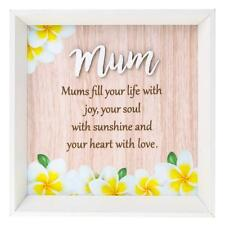 Mums fill your heart with joy colourful square wall plaque gift 283770