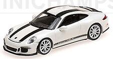 Porsche 911 R Coupé 2016 blanc + Noir Stripe 1:87 Minichamps