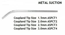 DENTAL INSTRUMENT TOOLS METTALIC SUCTION TUBE COUPLAND SET OF 4 ASPECT STAINLESS
