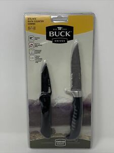 Buck Knives 875/876 Back Country Combo 2 Knife Set Unopened Package!