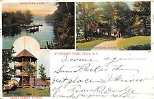 Utica New York~Summit Park~Sight Seeing Tower~Miniature Lake~Summer House~1906