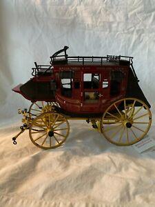 Wells Fargo Stage Coach 1/16 Diecast Red Franklin Mint Gorgeous! Box Luggage