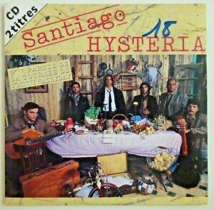 """SANTIAGO : HYSTERIA (CD avec mention """"1ère partie avec  JOHNNY HALLYDAY"""")"""