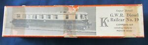 K's 00 Gauge GWR Diesel Railcar No 19 (Boxed, requires completion)