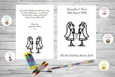 Personalised Childrens Kids Wedding Activity Pack Book Favour Same Sex AB123