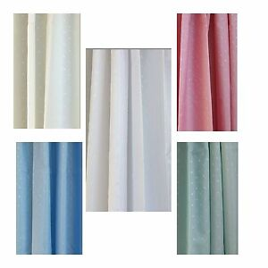 Luxury Shower Curtain, weighted hem, with 12 free rings (180cm x 180cm)