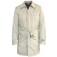 NINO DANIELI $690 tan belted nylon mac raincoat jacket trench car coat 48/M NEW