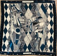 Hermes GM Shawl Cashmere Silk Wrap 140cm Patchwork Horse