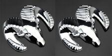 2pcs Auto Car Metall Chrom Schriftzug Aufkleber Emblem kleber für 7x6cm Chrom 3D
