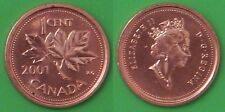 2001 Canada Maple Leaf 1 Cent From Mint Roll