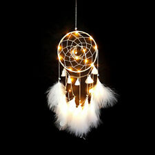 Handmade Dream Catcher with feather wall car hanging lighting decor ornament