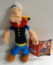 """Kellytoy Popeye the Sailorman with Pipe Plush Doll 9"""" 2009 with Tags"""