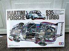 Vintage Tamiya 1/12 Porsche Martini 935 Turbo w/ Box * Partial Assembled