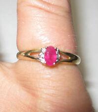 *~* 10K Yellow Gold RUBY SAPPHIRE DIAMOND Pinky Ring Sz 6 L@@K! *~*