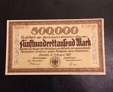 Fünfhunderttausend Mark Reichsbahndirektion Dresden