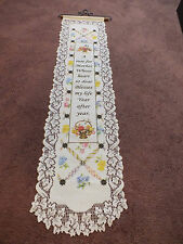 Collectible Beautiful Lace Wall Hanging Rose for Mother Saying 30 x 7 + Hanger