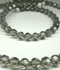 Gray Crystal Bead Memory Wire Choker Necklace and Bracelet Set Fashion Jewelry
