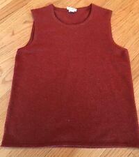 Authentic Hermes Women's Cashmere Sweater Vest XS Orange